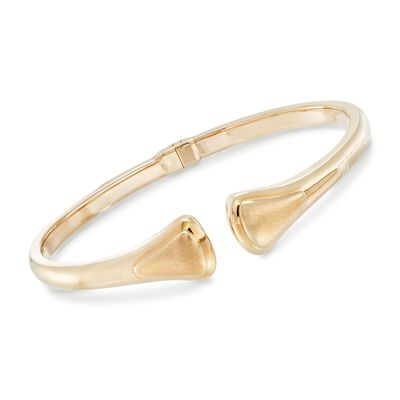14kt Yellow Gold Open-End Bangle Bracelet, , default