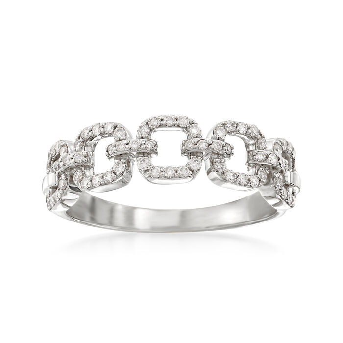 .33 ct. t.w. Diamond Link Ring in 14kt White Gold