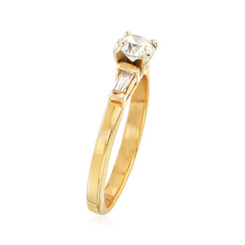 C. 1990 Vintage .50 ct. t.w. Diamond Ring in 14kt Yellow Gold. Size 6, , default