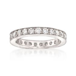 Henri Daussi 1.25 ct. t.w. Diamond Eternity Band in 18kt White Gold, , default