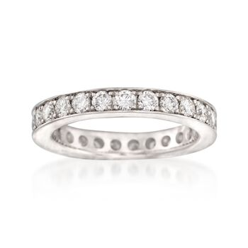 Henri Daussi 1.25 ct. t.w. Diamond Eternity Band in 18kt White Gold. Size 6, , default