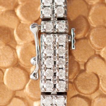 3.00 ct. t.w. Diamond Double-Row Bracelet in Sterling Silver, , default