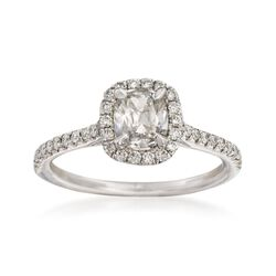 Henri Daussi 1.11 ct. t.w. Diamond Engagement Ring in 18kt White Gold, , default