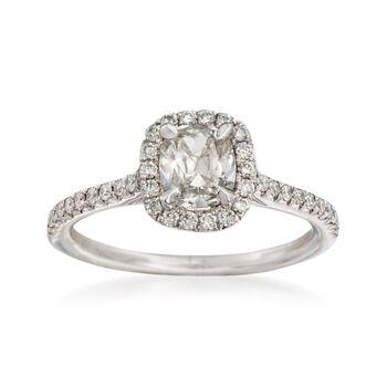 Henri Daussi 1.11 ct. t.w. Diamond Engagement Ring in 18kt White Gold, , default