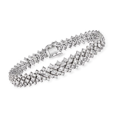 8.49 ct. t.w. Diamond Graduated Bracelet in 18kt White Gold