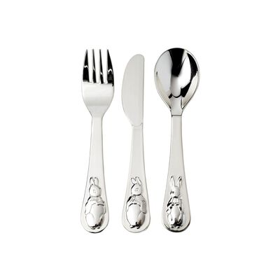 "Wedgwood ""Peter Rabbit"" Child's 3-pc. Silver Plate Flatware, , default"