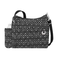 "Travelon ""Anti-Theft Boho"" Geometric Shell Square Crossbody Bag , , default"