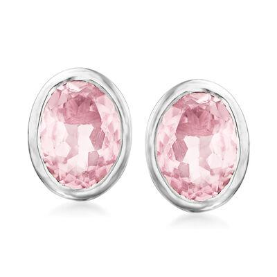 3.00 ct. t.w. Rose Quartz Earrings in Sterling Silver