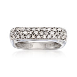 C. 2000 Vintage .60 ct. t.w. Diamond Rounded Square Ring in 14kt White Gold. Size 7.5, , default