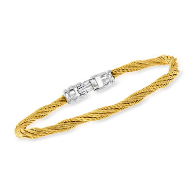 ALOR Yellow Stainless Steel Twisted Cable Bracelet