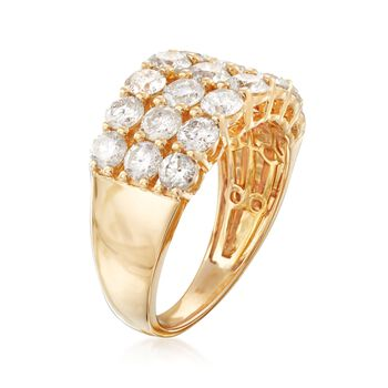 3.00 ct. t.w. Diamond Three-Row Ring in 14kt Yellow Gold, , default