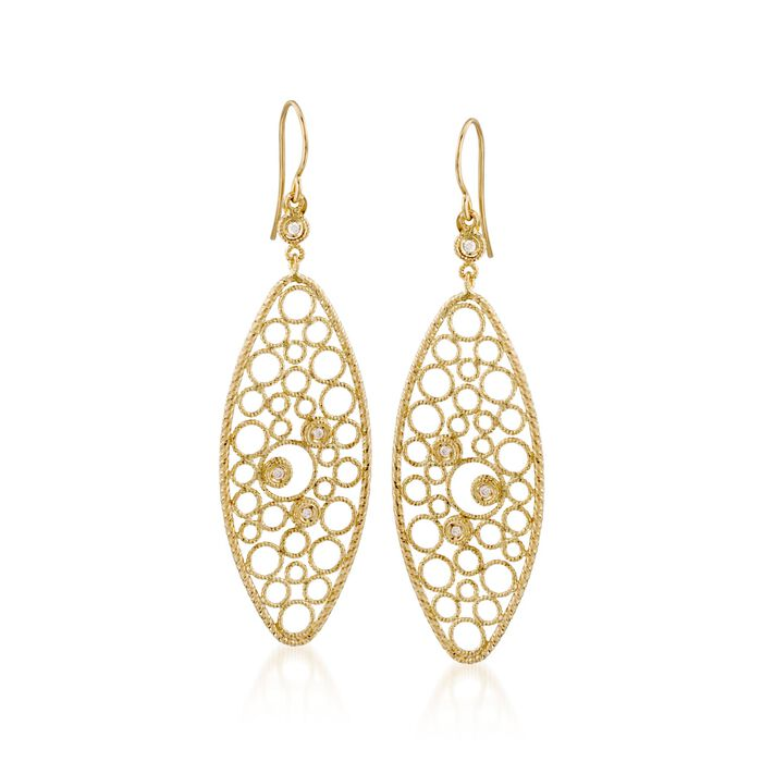 "Roberto Coin ""Bollicine"" .17 ct. t.w. Diamond Earrings in 18kt Yellow Gold"