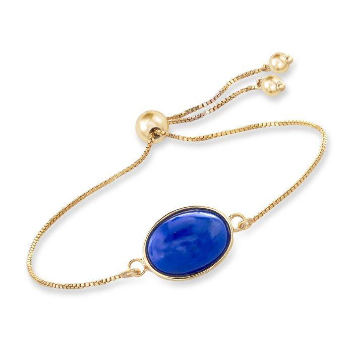 Lapis Bolo Bracelet in 18kt Gold Over Sterling , , default