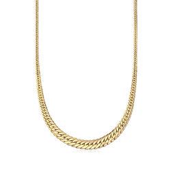 Italian 18kt Yellow Gold Graduated Cuban Link Necklace, , default