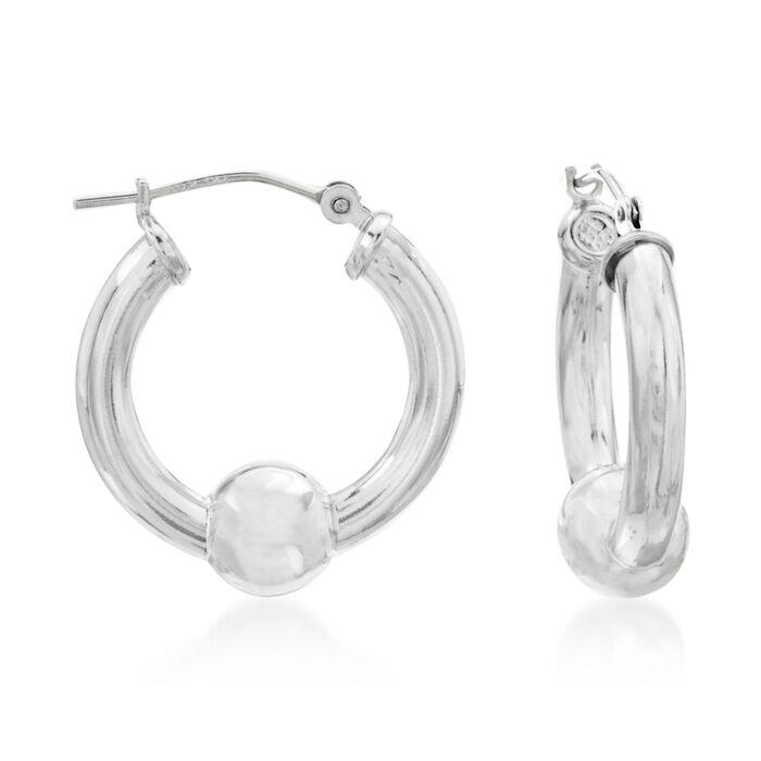 """Sterling Silver Cape Cod Hoop Earrings. 7/8"""", , default"""