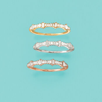 .20 ct. t.w. Baguette Diamond Ring in 14kt Rose Gold, , default