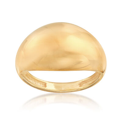 22kt Yellow Gold Polished Dome Ring, , default