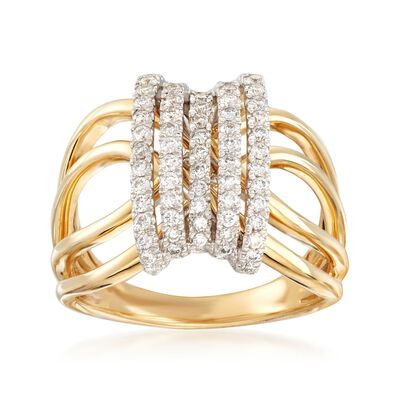 .50 ct. t.w. Diamond Open-Space Ring in 14kt Yellow Gold, , default