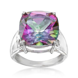 9.75 Carat Multicolored Quartz Ring in Sterling Silver, , default