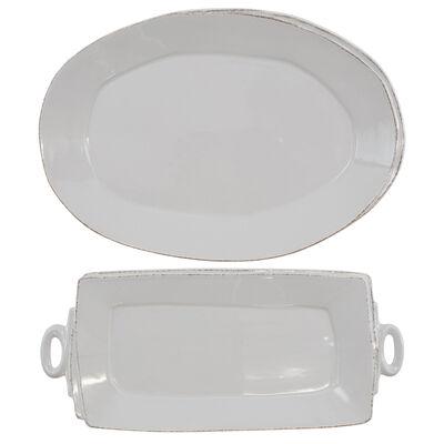 """Vietri """"Lastra"""" Light Gray Platter from Italy"""