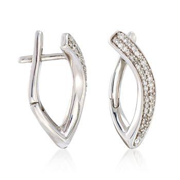 .25 ct. t.w. Diamond Curve Earrings in Sterling Silver , , default