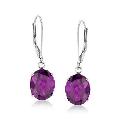 4.80 ct. t.w. Amethyst Drop Earrings in Sterling Silver, , default