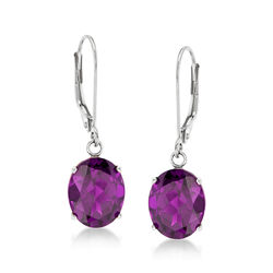 4.80 ct. t.w. Amethyst Drop Earrings in 14kt White Gold, , default