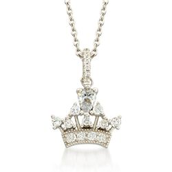".84 ct. t.w. CZ Tiara Pendant Necklace in Sterling Silver. 18"", , default"