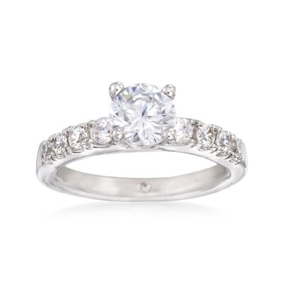 Gabriel Designs .40 ct. t.w. Diamond Engagement Ring Setting in 14kt White Gold, , default