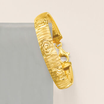 Italian 18kt Gold Over Sterling Cleopatra-Design Bracelet