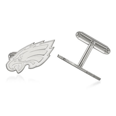 Sterling Silver NFL Philadelphia Eagles Cuff Links, , default
