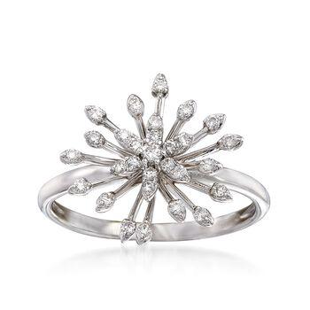 .23 ct. t.w. Diamond Starburst Ring in 14kt White Gold, , default