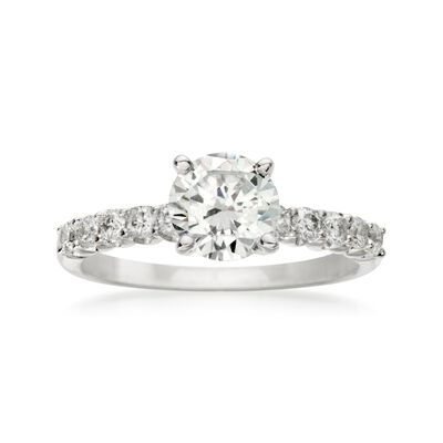 .30 ct. t.w. Diamond Engagement Ring Setting in 18kt White Gold