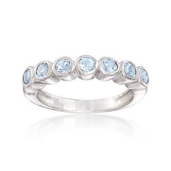 1.00 ct. t.w. Bezel-Set Blue Topaz Ring in Sterling Silver, , default