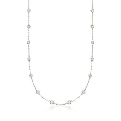 1.00 ct. t.w. Diamond Station Necklace in Sterling Silver, , default