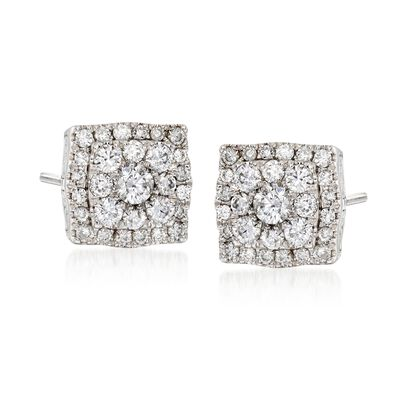 Gregg Ruth .55 ct. t.w. Diamond Earrings in 18kt White Gold
