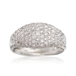 C. 1990 Vintage 1.25 ct. t.w. Pave Diamond Dome Ring in 18kt White Gold, , default