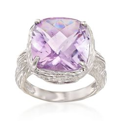 5.00 Carat Amethyst Ring in Sterling Silver, , default