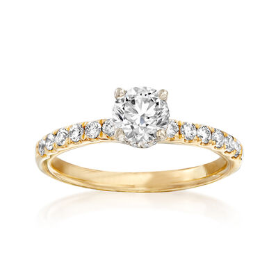 1.01 ct. t.w. Diamond Engagement Ring in 14kt Yellow Gold, , default