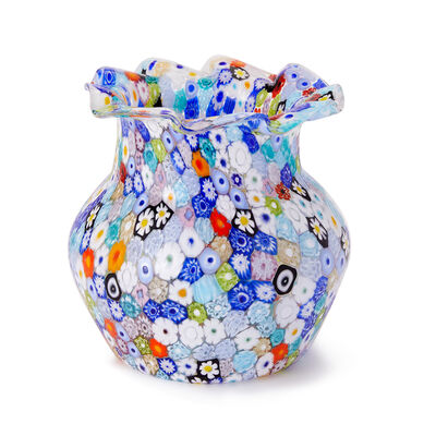 Murano Glass Millefiori Medium Vase from Italy