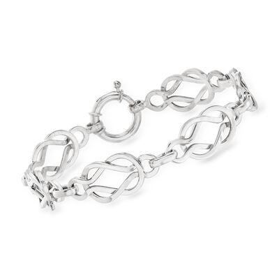 Sterling Silver Knot-Link Bracelet
