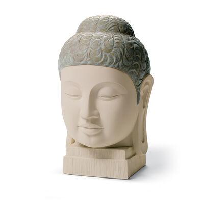 "Lladro ""Buddha I"" Porcelain and Enamel Figurine"