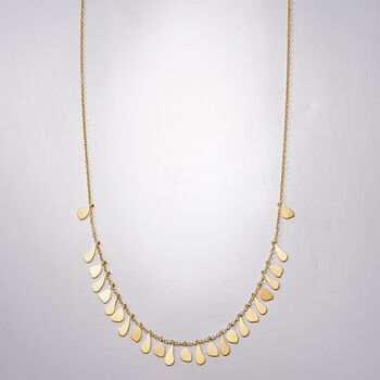 Italian 14kt Yellow Gold Free-Form Drops Necklace, , default