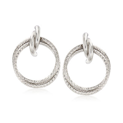 Italian Sterling Silver Doorknocker Earrings