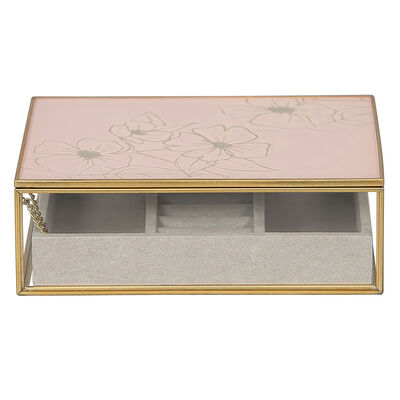 "Mele & Co. ""June"" Glass Jewelry Box"