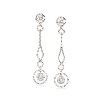 2.61 ct. t.w. Diamond Illusion Drop Earrings in 14kt White Gold, , default