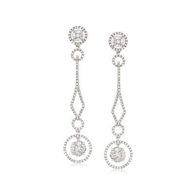 2.61 ct. t.w. Diamond Drop Earrings in 14kt White Gold, , default