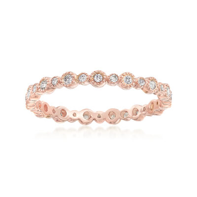 .25 ct. t.w. Diamond Eternity Band in 14kt Rose Gold, , default