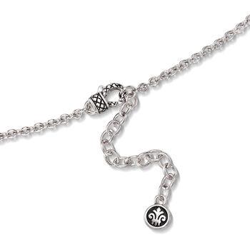 "Andrea Candela ""Fleur-De-Lis"" 4.36 Carat Citrine Pendant Necklace in Sterling Silver. 17"""