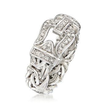 .27 ct. t.w. Diamond Byzantine Buckle Ring in Sterling Silver
